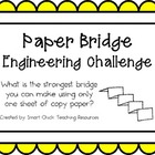 Paper Bridges: Engineering Challenge Project ~ Great STEM