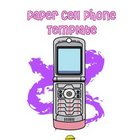 Paper Cell Phone Template