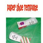 Paper Shoe Template for Christmas Holidays Around the World