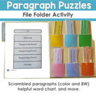Paragraph Puzzles File Folder Activity