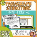 Paragraph Structure Task Cards: 32 Paragraph Cards with Mi