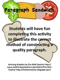 Paragraph Writing Paragraph Sandwich