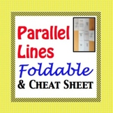 Parallel Lines, Transversals, and their Angles Foldable