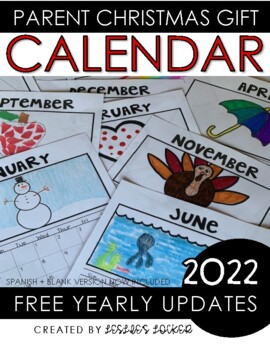 Parent Christmas Gift {2015 Calendar}