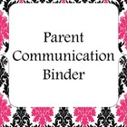 Parent Communication Binder with logs