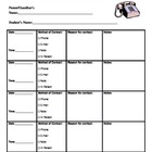 Parent Communication Documentation Log