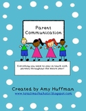 Parent Communication For the Whole Year  *Jam Packed*