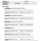 Parent Communication Form-Printable