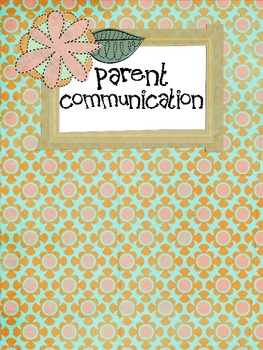Parent Communication Form Sample