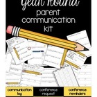 Parent Communication Forms for ALL YEAR... chevron themed