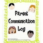 Parent Communication Log (black and white/color)