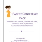 Parent Conference Pack with Assessment Documentation Guide