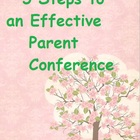 Parent Conference Worksheet