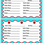 Parent Contact Cards