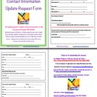 Parent Contact Information Update Request Form to Send Home