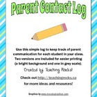 Parent Contact Log: Keep Your Communication Organized!