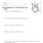 Parent Homework Informational Form