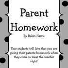Parent Homework for Open House