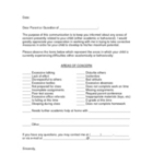 Parent Letter Home - Concerns About Student (Letter to Parents)