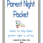 Parent Night Or Orientation Packet for Publisher Free