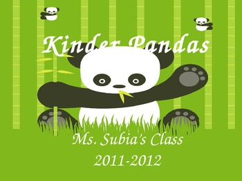 Parent Orientation Beginning of School Year:  Panda Theme
