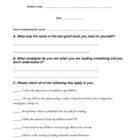 Parent Reading Questionnaire