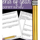 Parent Survey for the End of the Year