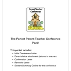 Parent-Teacher Conference Pack