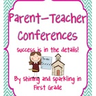 Parent Teacher Conferences {A Kit to Help you Succeed}