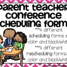 Parent-Teacher Scheduling Form