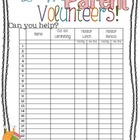Parent Volunteer Form for Orientation/Open House