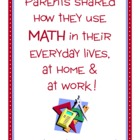 Parent Writing Homework - Math