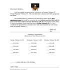Parent/Teacher Conference Signup Sheet