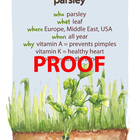 Parsley Poster - Available in English and Spanish!