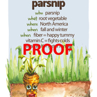 Parsnip Poster - Available in English and Spanish!
