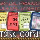 Partial Products 2 Digit Multiplication Task Cards - PERFE