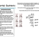 Partial Quotients--Parent Cheat Sheet