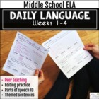 Partner Daily Language: Daily Language with a Peer Teachin