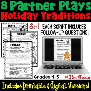 Partner Plays: Christmas Traditions Around the World- 8 scripts (4th- 5th grade)
