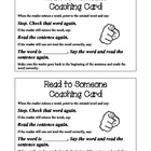 Partner Reading Coaching Card
