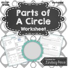 Parts of Circles Worksheet