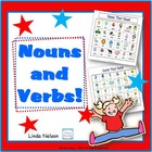 Parts of Speech: 2 Nouns and Verbs Gameboards