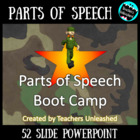 Parts of Speech Bootcamp PowerPoint Lesson and Test Prep