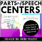 Parts of Speech Centers {Nouns, Verbs, & Adjectives}