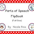 Parts of Speech Flipbook (Full-Size)