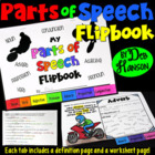 Parts of Speech Flipbook: Includes a Practice Worksheet fo