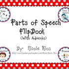Parts of Speech Flipbook With Adverbs