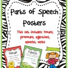 Parts of Speech: Jungle Themed Zebra Print