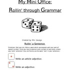 Parts of Speech Mini Office: Rollin&#039; on through with Grammar!