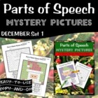 Parts of Speech Mystery Pictures- December Set 1
